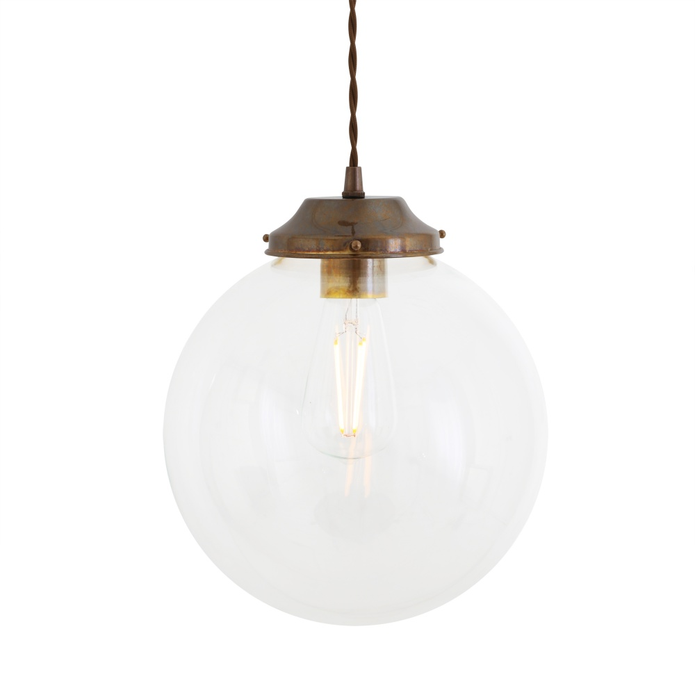 Virginia Clear Globe Pendant Light 25 cm